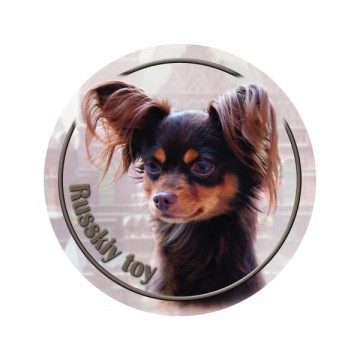 Russisk toy terrier 3D Dekal