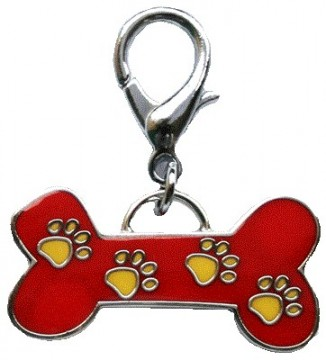 Red Bone / Yellow Paws Charm