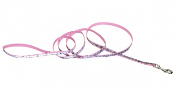 Lazer Brite® Reflective Leash -Pink New Hearts