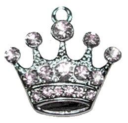 Jeweled Crown Charm