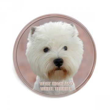 West Highland white terrier 3D Dekal