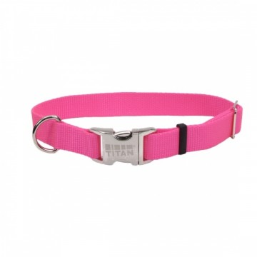 Coastal® Adjustable Collar Metal Medium Bred- Neon Pink