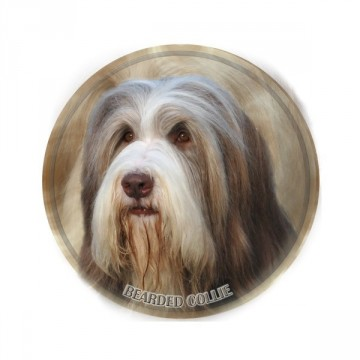Bearded Collie 3D Dekal
