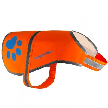 SafetyPUP Refleksvest - Orange Large