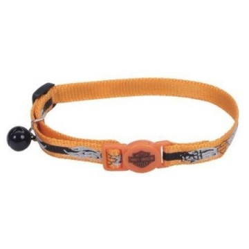 Harley-Davidson® Reflective Adjustable Breakaway Cat Collar OBF