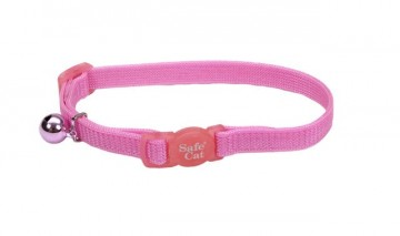 Safe Cat® Nylon Adjustable Breakaway Collar-Pink Bright