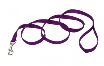 Nylon Leash Purple Medium