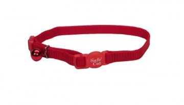 Safe Cat® Nylon Adjustable Breakaway Collar-Red