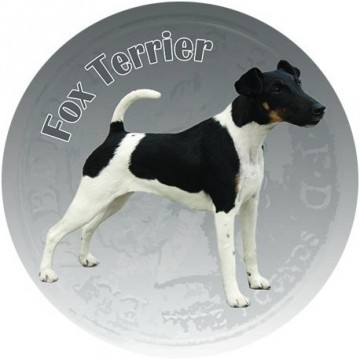 Fox Terrier 3D Dekal 2