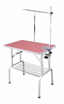 SS Grooming Table Pink M